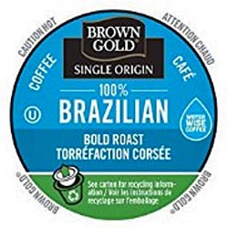 brown gold brazil cups