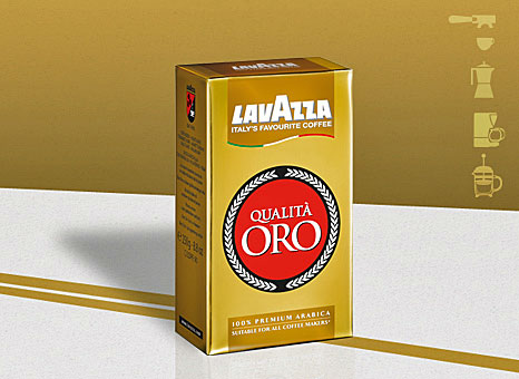 Lavazza Qualita Oro Coffee, Ground, Medium
