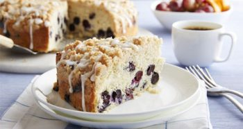 Tropical Brazilian Coffee Blueberry Cake Recipe