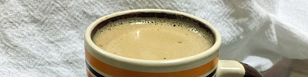 A Whey Protein in Hot Coffee recipe is not original. Mixing them coffee has been around. The innovation comes from trying to make a cappuccino-like recipe.