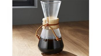 chemex 3-cup pour over brewer
